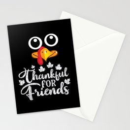 Thanksful for friends Turkey Thanksgiving Party Stationery Cards