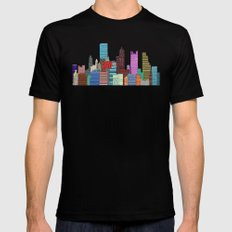 Pittsburgh Mens Fitted Tee SMALL Black