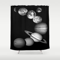 solar system Shower Curtains featuring the solar system by GalaxyDreams
