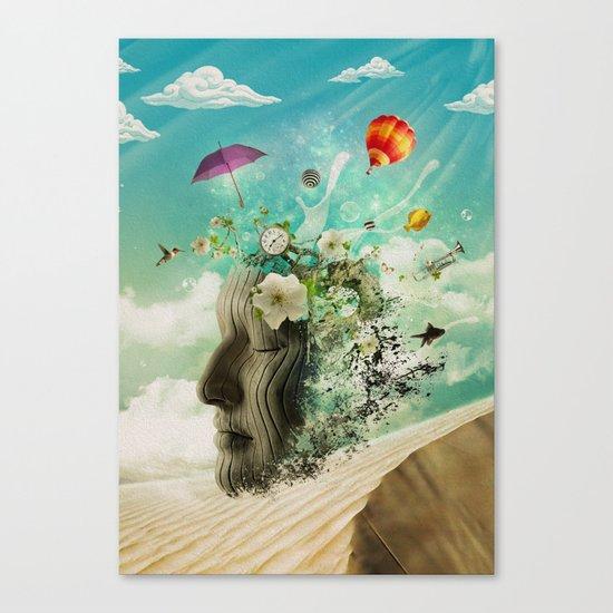 Meditation Yoga ART Surreal Modern Painting  Canvas Print