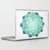 succulent Laptop & iPad Skins featuring Succulent by Molly Violence