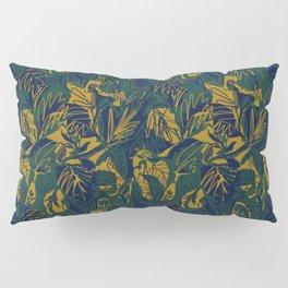 Mustard Navy Jungle Pillow Sham