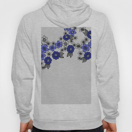 Blossom of Flowers blue - grey Hoody