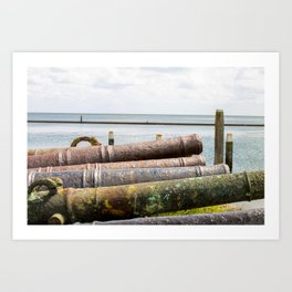 Old rusty cannons. Art Print