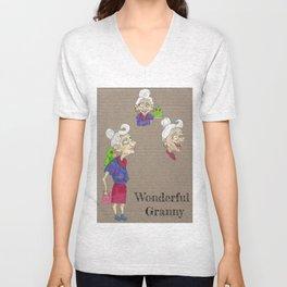 wonderful granny Unisex V-Neck