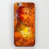jesus iPhone & iPod Skins featuring Jesus by Saundra Myles