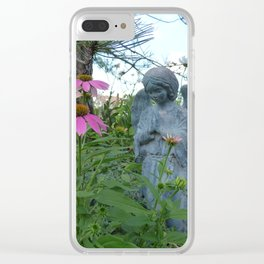 Angel Amid the Flowers Clear iPhone Case