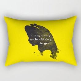 Unbirthday – Alice Silhouette Quote Rectangular Pillow