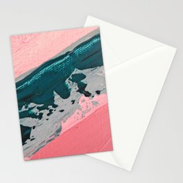 ABSTRACT STREAM   Acrylic abstract art by Natalie Burnett Art Stationery Cards