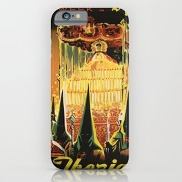 cartellone holy week in spain fly iberia iPhone Case