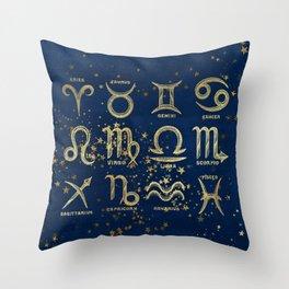 The 12 Zodiac Signs Throw Pillow