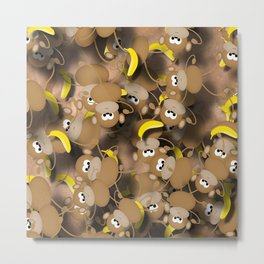 Monkeys And Bananas Metal Print