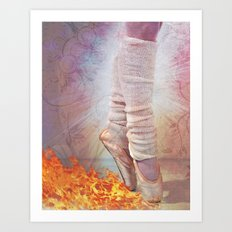 Ballet Shoes & Flames of Fire Art Print