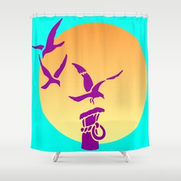Safe Landing Shower Curtain