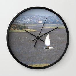 *Sailing into Launceston Tasmania* Wall Clock