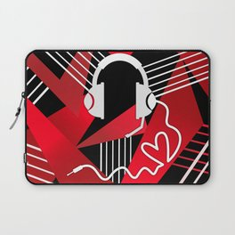 Red Love Gamer Headset Laptop Sleeve