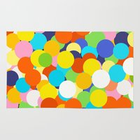 gumball Area & Throw Rugs featuring Gumball Machine by Haley Jo Phoenix