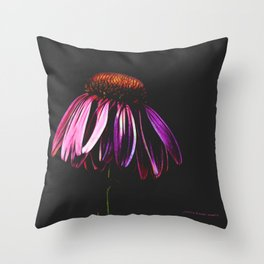 Neon Cone Throw Pillow