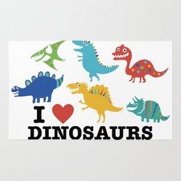 I love dinosaurs Rug