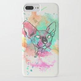 Watercolor Sphynx iPhone Case