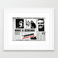 shining Framed Art Prints featuring Shining by Maioriz Home