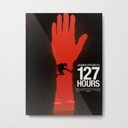 127 Hours minimal poster Metal Print