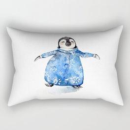 Baby Penguin in Onsie Rectangular Pillow