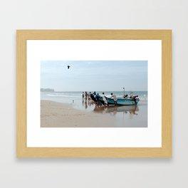 Sea Men Framed Art Print