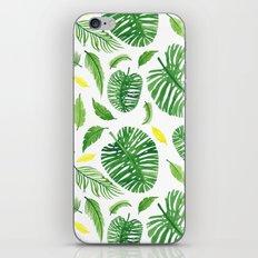 Palm leaf pattern iPhone & iPod Skin