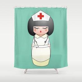 Kokeshi Nurse Shower Curtain