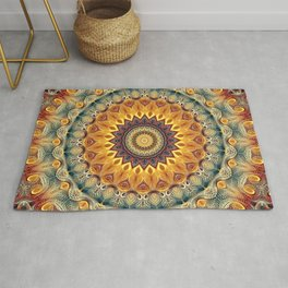 Flower Of Life Mandala (Sun-kissed) Rug