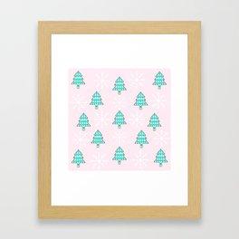 Christmas trees Framed Art Print