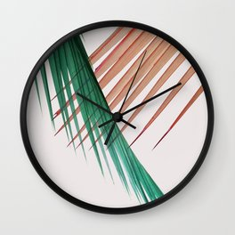 Palm Leaves, Tropical Plant Wall Clock