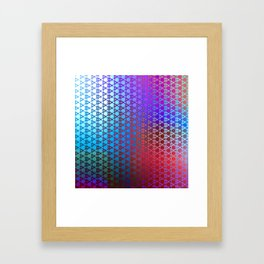 Groovy Retro Pattern (purple-red-turquoise) Framed Art Print