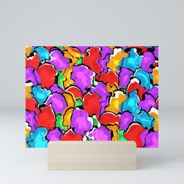 Colorful Scrambled Eggs Mini Art Print