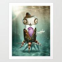 squid Art Prints featuring Squid by Helder Oliveira