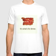 Bacon! White MEDIUM Mens Fitted Tee