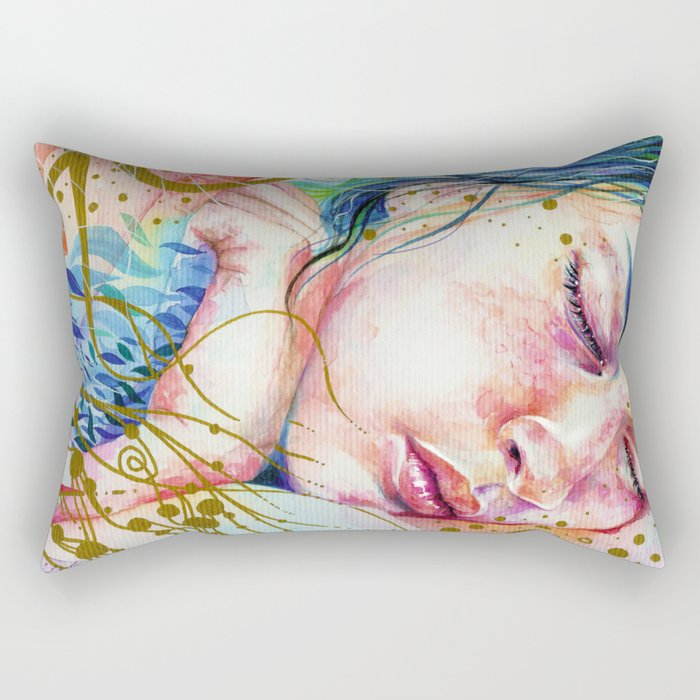 Golden Dreams Rectangular Pillow