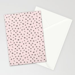 The Missing Letter Alphabet Stationery Cards