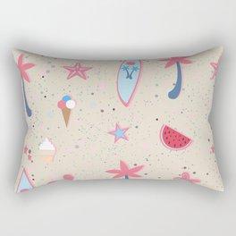Beach Pattern Rectangular Pillow