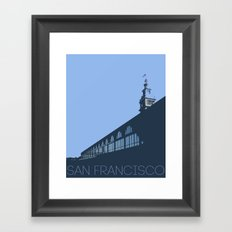Ferry Building from the dock San Francisco Framed Art Print