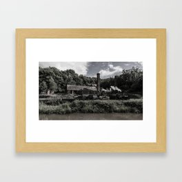 steam locomotive Framed Art Print