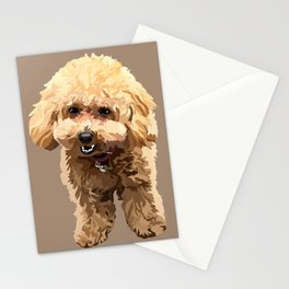 Muffin the toy poodle Stationery Cards