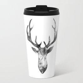 Deer black and white Travel Mug