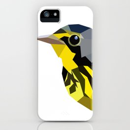 Bird art canada warbler Yellow gray iPhone Case