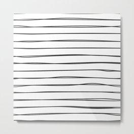 Doodle line pattern Metal Print
