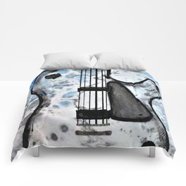 Guitar Art. Abstract Guitar. Rock and Roll. Gibson Guitar. Comforters