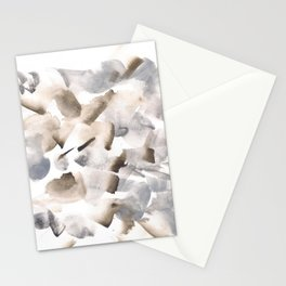180630 Grey Black Brown Neutral Abstract Watercolour 9  | Watercolor Brush Strokes Stationery Cards