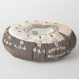 Rotary Phone Dial, Vintage Phone Floor Pillow