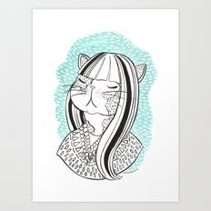 Cat Lady No. 1 Art Print